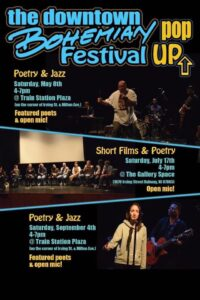 The Downtown Bohemian Festival  Pop-Ups -Poetry and Open Mic @ Train Station Plaza