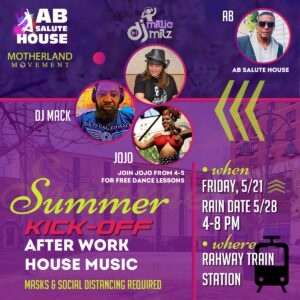 Summer Music Kick-Off After Work House Music- (RAIN DATE for May 21 ) @ Train Station Plaza