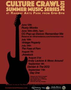 Culture Crawl Summer Music Series - Arts District Park @ Rahway Arts District Park